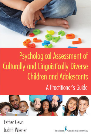 Psychological Assessment of Culturally and Linguistically Diverse Children and Adolescents PDF