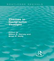 Themes in Geographic Thought  Routledge Revivals  PDF