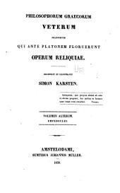 Philosophorum graecorum veterum: Empedocles
