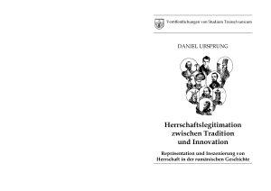 Herrschaftslegitimation zwischen Tradition und Innovation PDF