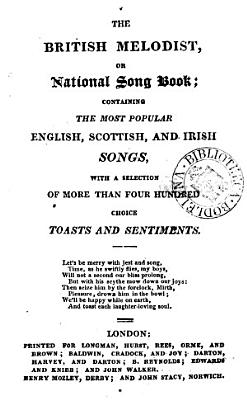 The British melodist  or  National song book