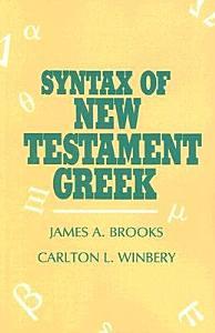 Syntax of New Testament Greek Book