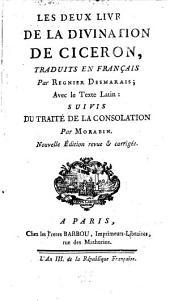 Les Deux Livres De La Divination De Cicéron