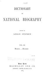 Dictionary of national biography: Volume 3