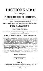 Dictionnaire historique, philosophique et critique: Volume 3