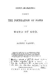 THE FOUNDATION OF FAITH IN THE WORLD OF GOD