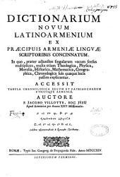 Dictionarium novum latino-armenium...