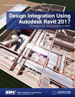 Design Integration Using Autodesk Revit 2017 PDF
