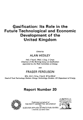 Gasification: Its Role in the Future Technological and Economic Development of the United Kingdom
