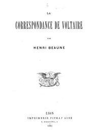 La correspondance de Voltaire