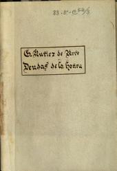 Deudas de la honra: drama en tres actos y en verso