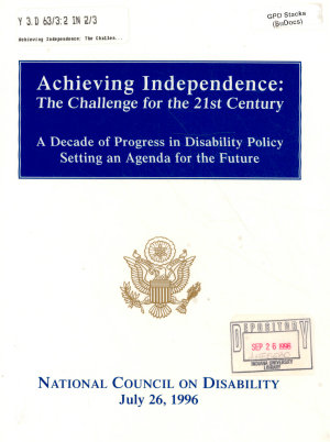 Achieving Independence PDF