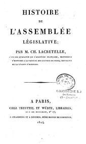 Histoire de l'Assemblée Législative