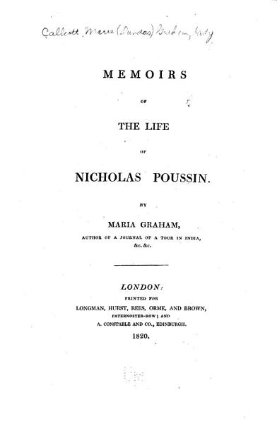Memoirs of the Life of Nicholas Poussin