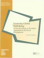 Fostering Global Well being PDF