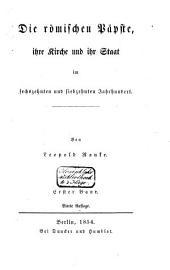 Fürsten und Völker von Süd-Europa im sechszehnten und siebzehnten Jahrhundert: vornehmlich aus ungedruckten Gesandtschafts-Berichten, Band 2