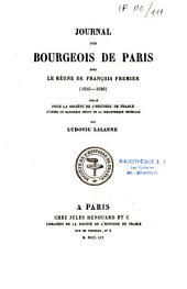 Journal d'un bourgeois de Paris sous le règne de François Ier: 1515-1536