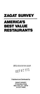 Zagat Survey, America's Best Value Restaurants