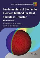Fundamentals of the Finite Element Method for Heat and Mass Transfer PDF