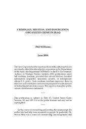 Criminals, Militias, and Insurgents: Organized Crime in Iraq