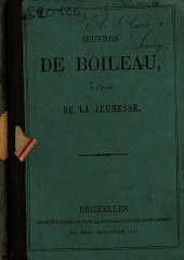 Oeuvres de Boileau à l'usage de la jeunesse