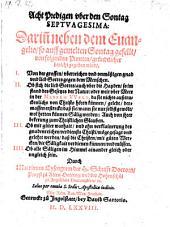 Acht Predigen über den Sontag Septuagesima (etc.)