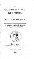 The Treatise of Cicero  De Officiis PDF