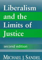 Liberalism and the Limits of Justice PDF