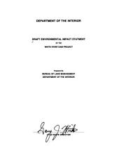 Draft environmental impact statment [sic] of the White River Dam Project