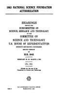 1983 National Science Foundation Authorization PDF