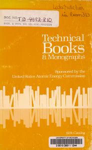Technical Books   Monographs