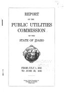 Report of the Public Utilities Commission of the State of Idaho from     PDF