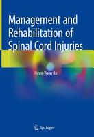 Management and Rehabilitation of Spinal Cord Injuries PDF