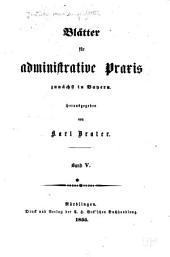 Deutsche Verwaltungsblätter: Blätter für administrative Praxis, Band 5