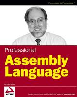 Professional Assembly Language PDF