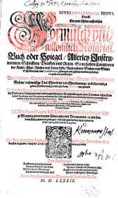 Penus notariorum: Formular- und volkomlich Notariatbuch