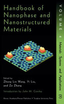 Handbook of Nanophase and Nanostructured Materials Vol  4   Materials Systems and Applications II PDF