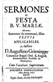 Sermones in festa B. V. Mariae