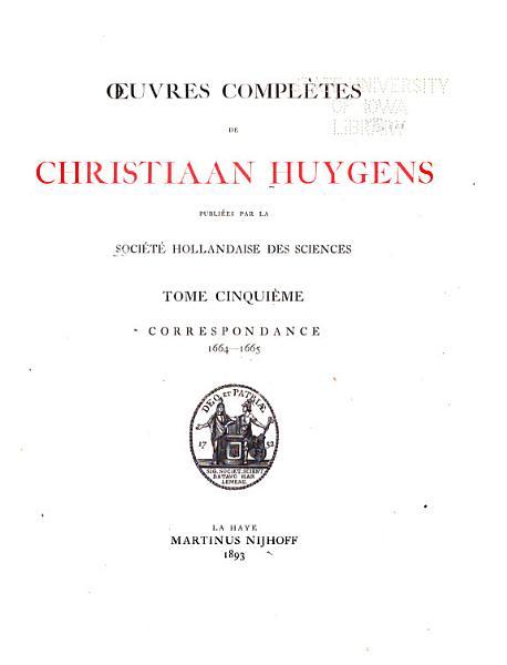 Download Oeuvres Compl  tes de Christiaan Huygens Book
