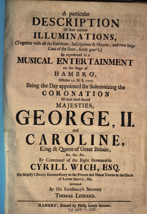 A particular description of four curios illuminations     George  II  and Caroline  etc   PDF