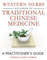 Western Herbs according to Traditional Chinese Medicine PDF