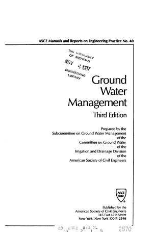 ASCE Manuals and Reports on Engineering Practice PDF