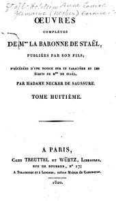 Œuvres complètes de Mme. la baronne de Staël: Corinne, ou L'Italie