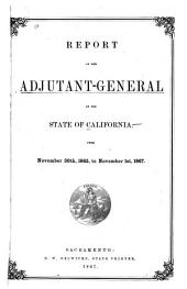 Report of the Adjutant General, State of California