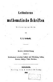 Mathematische Schriften: Bände 1-2