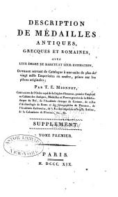 Description de medailles antiques, etc: Supplement, Volume 1