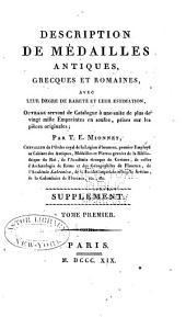 Description de medailles antiques, etc: Supplement, Volume1