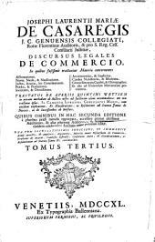 Discursus legales de commercio: Volume 3