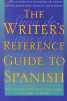 The Writer s Reference Guide to Spanish PDF