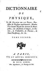 Dictionnaire De Physique: Volume2